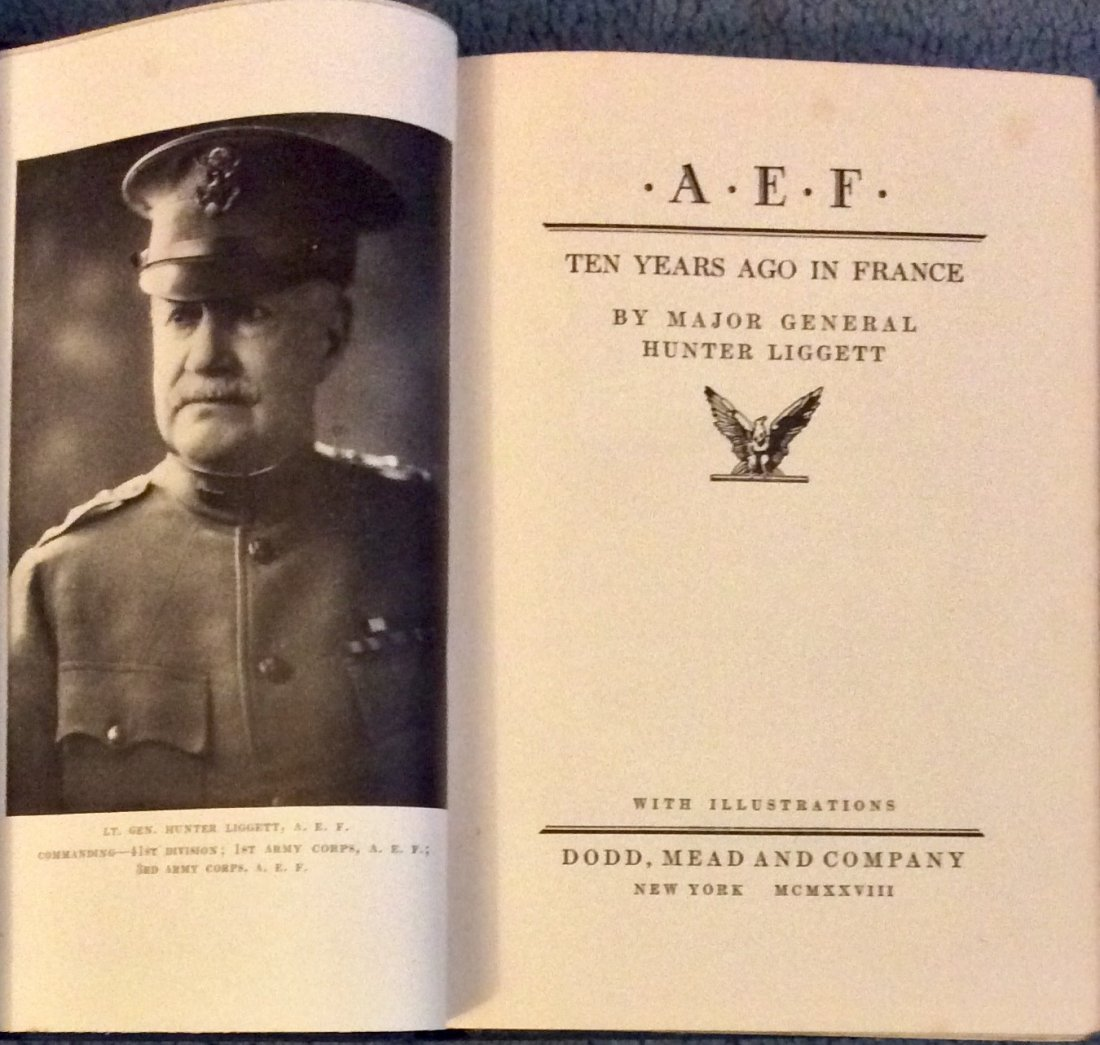 SCARCE WWI American Military History Hardcover - 2