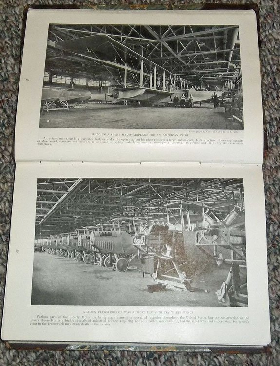 ANTIQUE Leatherbound WWI Aviation National Geographic - 3