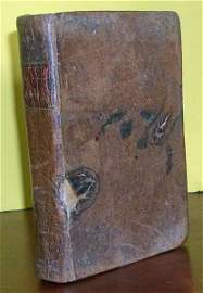 Antique American Published 1806 Leather Bound Prayer Bk