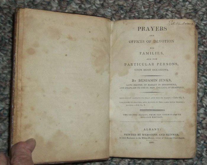 Antique American Published 1806 Leather Bound Prayer Bk - 2