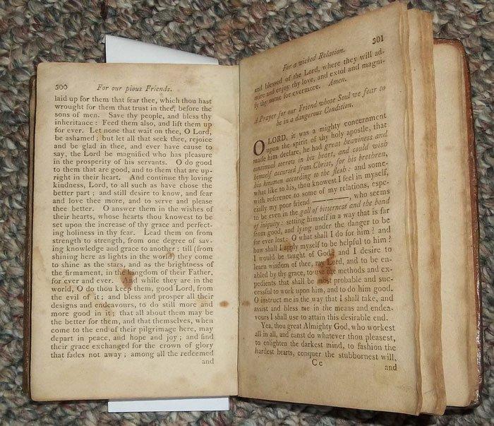 Antique American Published 1806 Leather Bound Prayer Bk - 5
