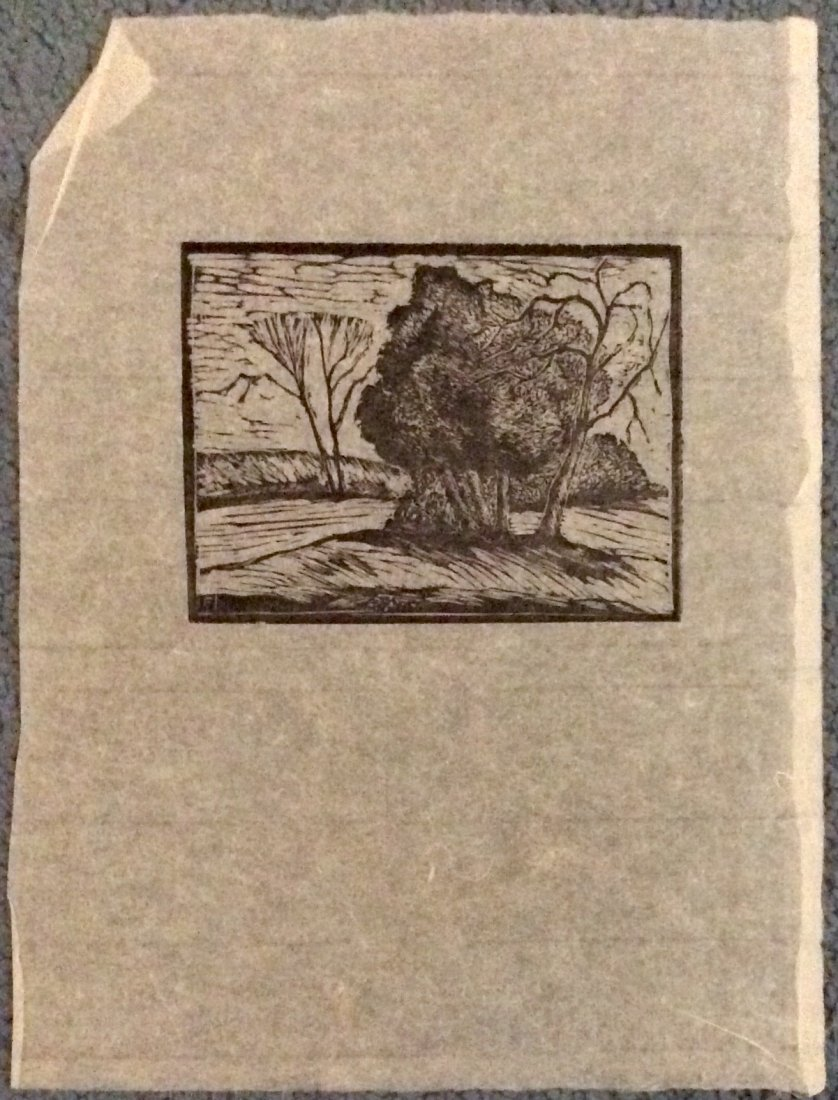 Roy C. Fox Original Wood engraving Art