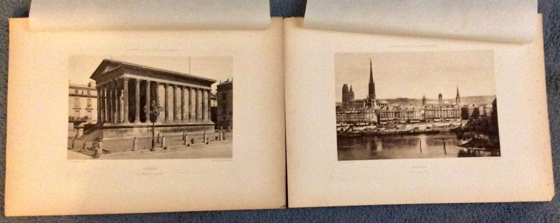 5 circa 1890 ANTIQUE Photogravures Of French Architure