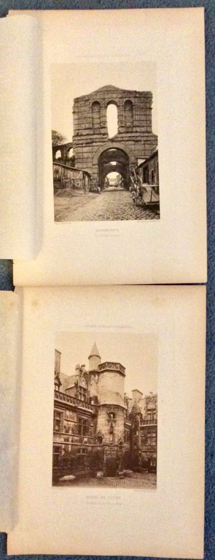 5 circa 1890 ANTIQUE Photogravures Of French Architure - 2