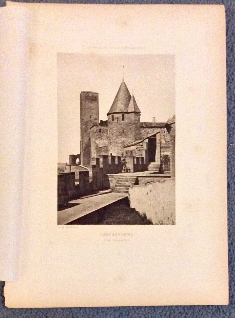 5 circa 1890 ANTIQUE Photogravures Of French Architure - 3