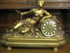Wood Figural Decorative Clock