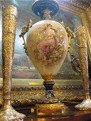 Sevres Cobalt Porcelain Lamp with Gilt Mounts