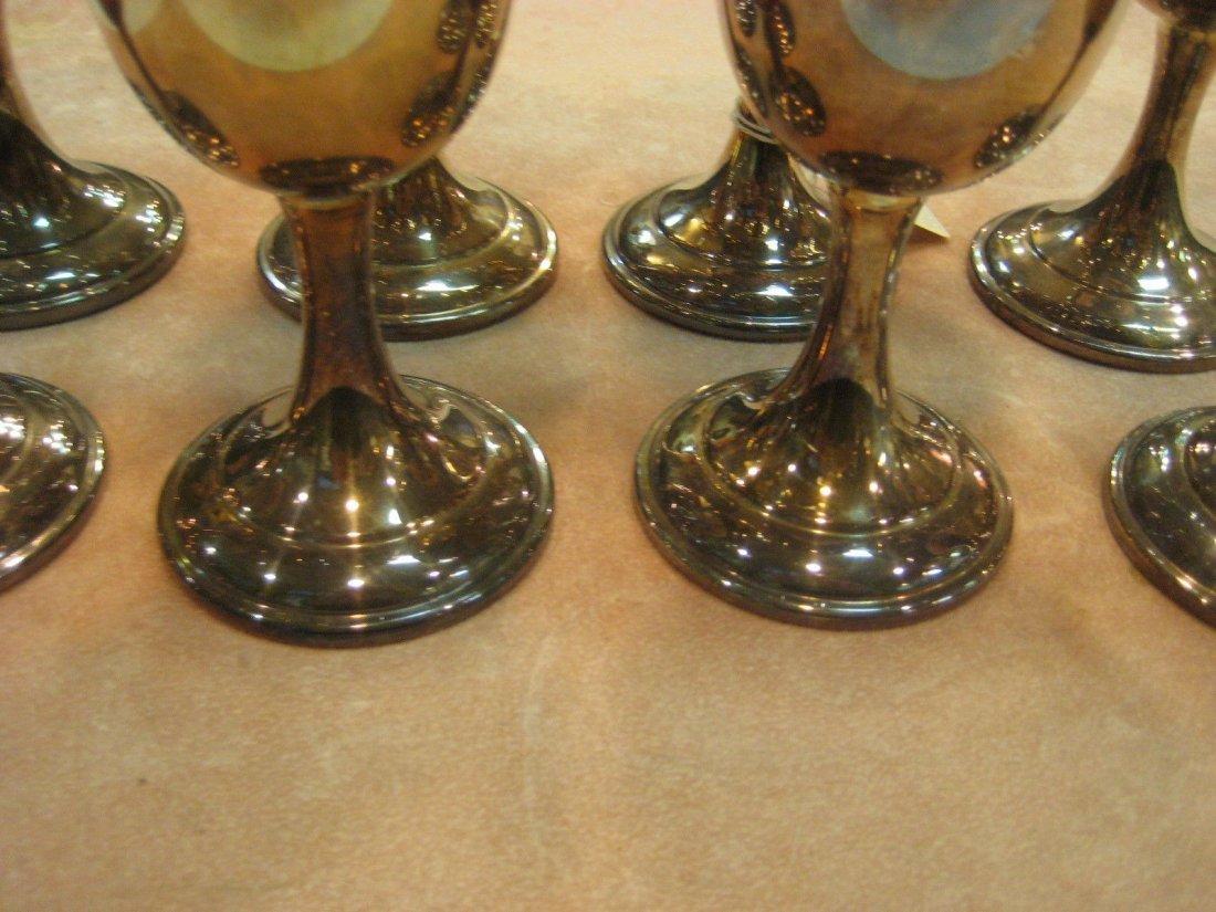 8 International Silver Co. Wine/Water Goblets - 3
