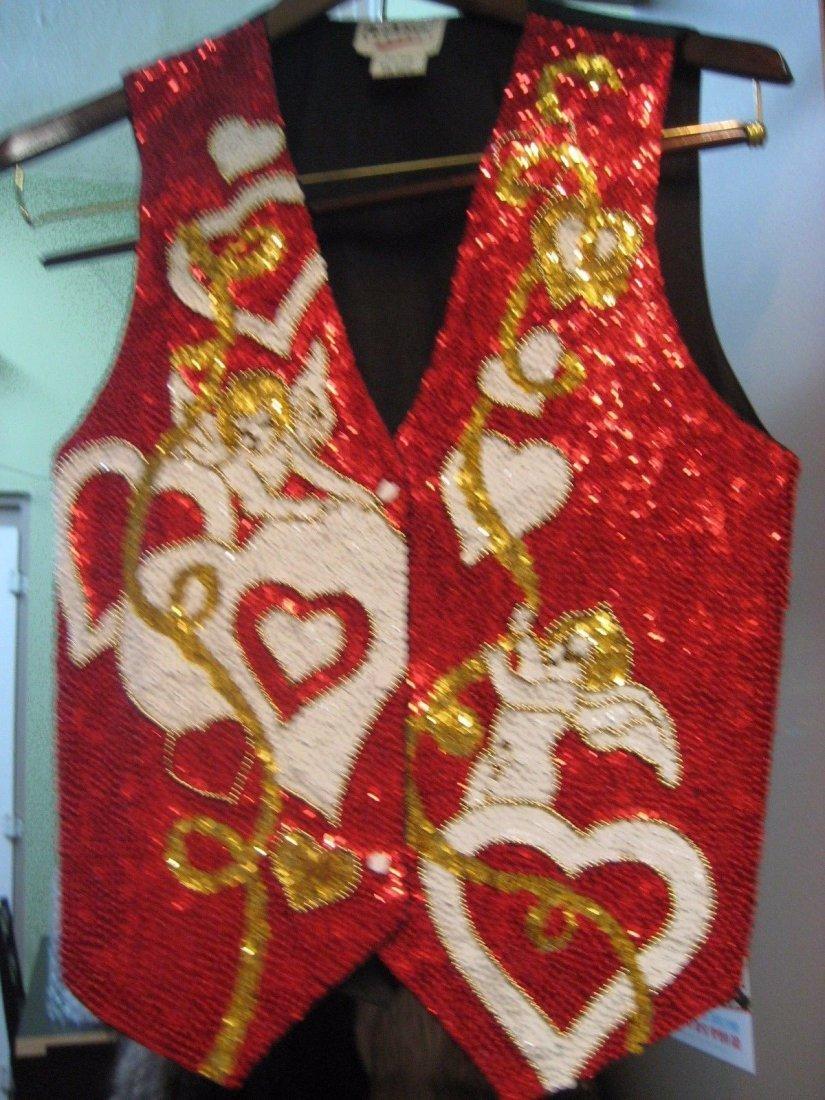 6 Vintage Sequin Beaded Boho Unisex Hippie Vests - 2
