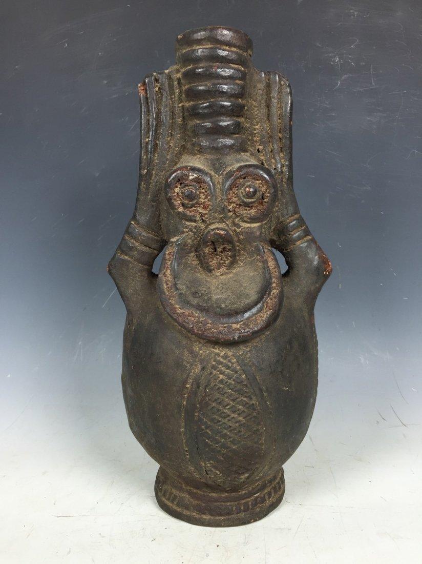 Monkey Pottery Jar