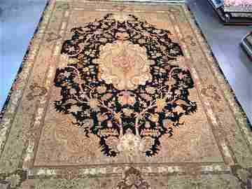 Oversize Wool and Silk Masterpiece Rug, 10x14