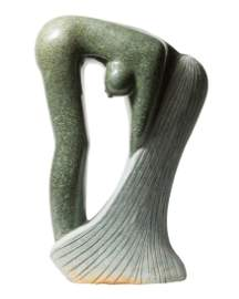 Bathing Woman in Green Opal Stone