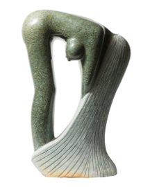 Bathing Woman in Green Opal Stone
