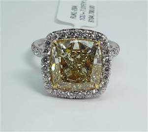 Platinum Yellow Diamond Ring