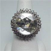 Platinum Rosecut Diamond Ring