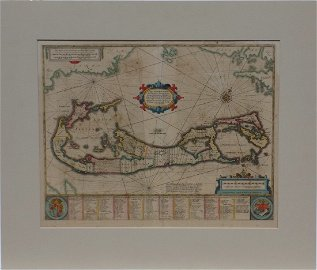 Map of Bermuda, by Hondius 1633 (first edition)