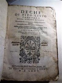 1575 Vellum Deche di Tito Livio padovano delle historie