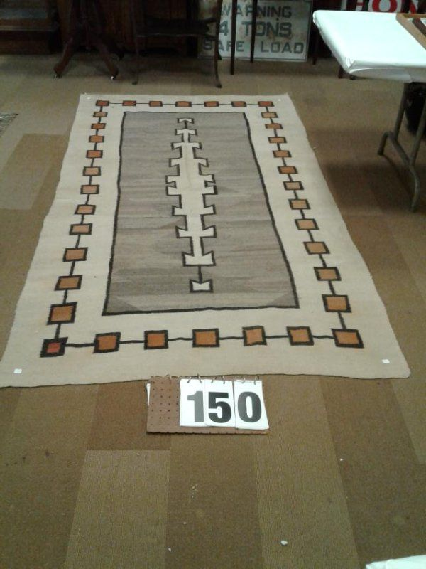 Indian Hand Woven Estate Rug