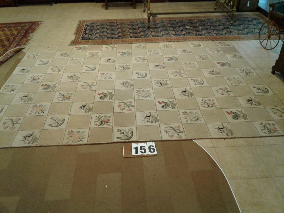 Hand Made American Hooked Rug