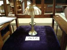 Signed L.C.T. Gold Favrile Candle Lamp