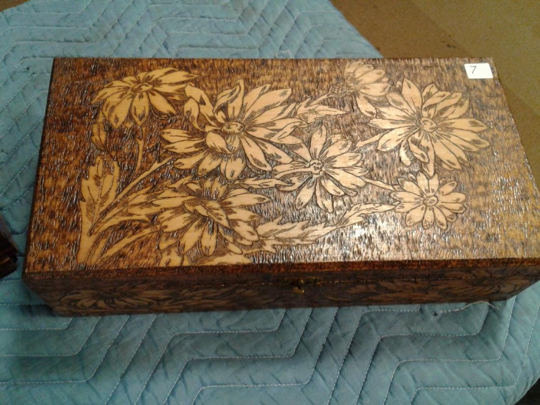 (3) Antique Wood Boxes