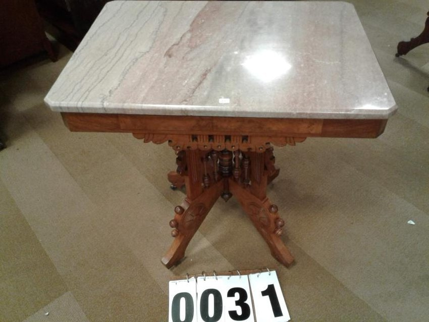 1890's Victorian Marble top Table