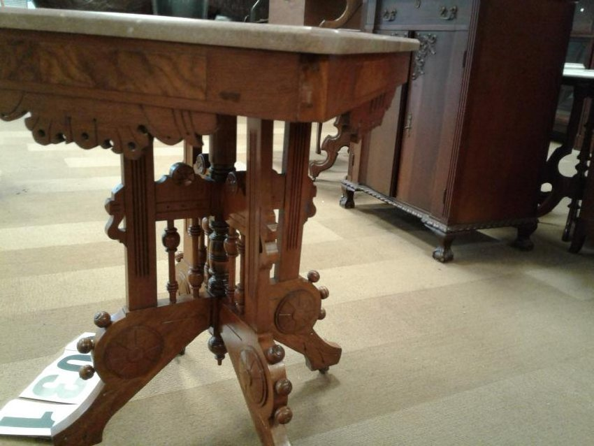 1890's Victorian Marble top Table - 2