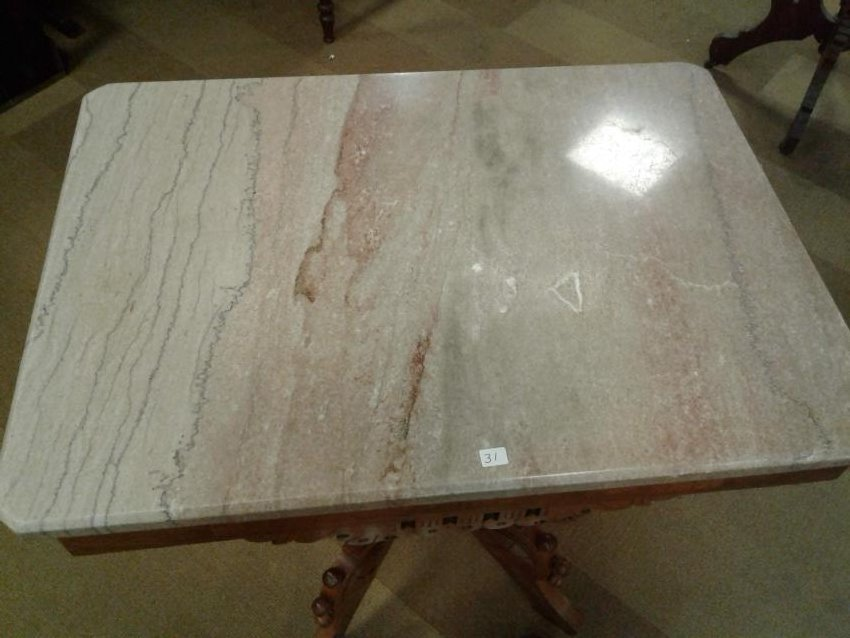 1890's Victorian Marble top Table - 3