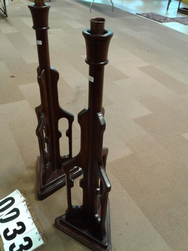 Pair of Matching Floor Candlesticks