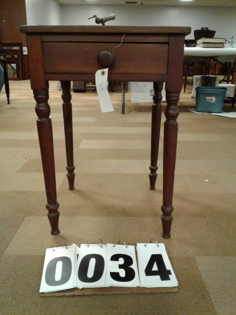 1830's American Cherry 1- Drawer Stand