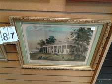 """Currier+Ives """"The Home of Washington"""""""
