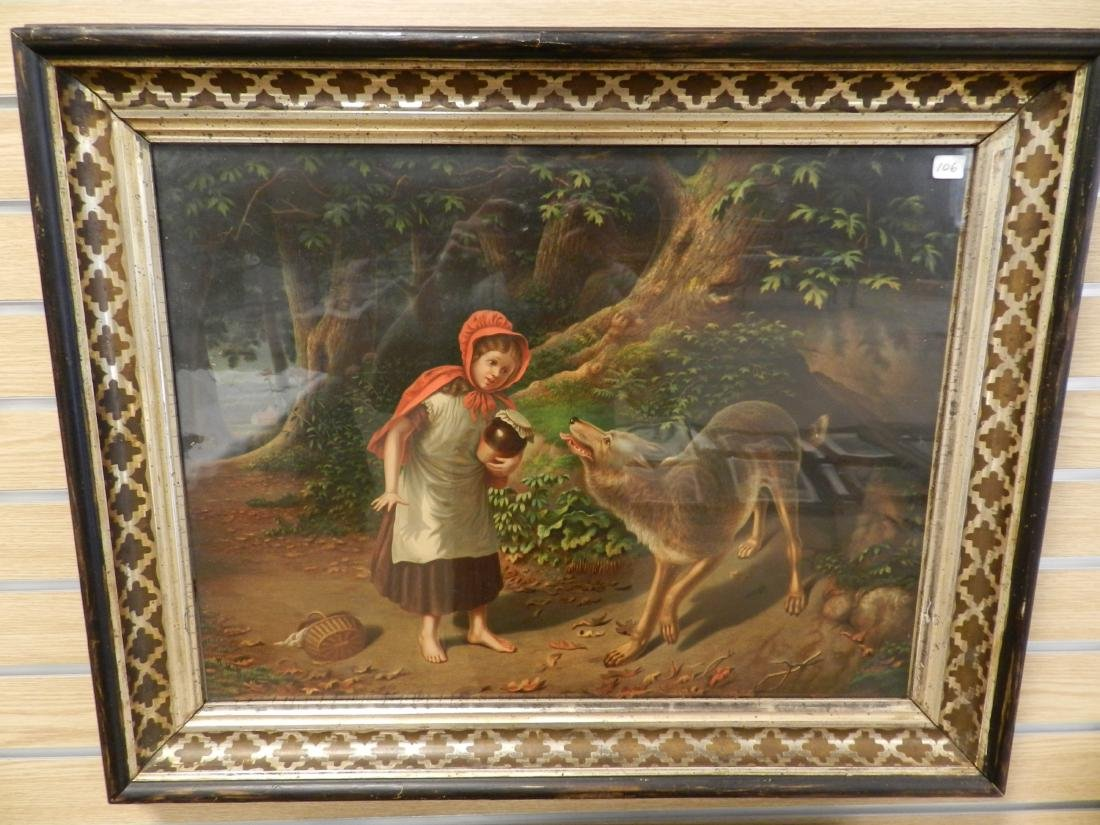"""1890's """"Little Red Riding Hood"""" Print"""