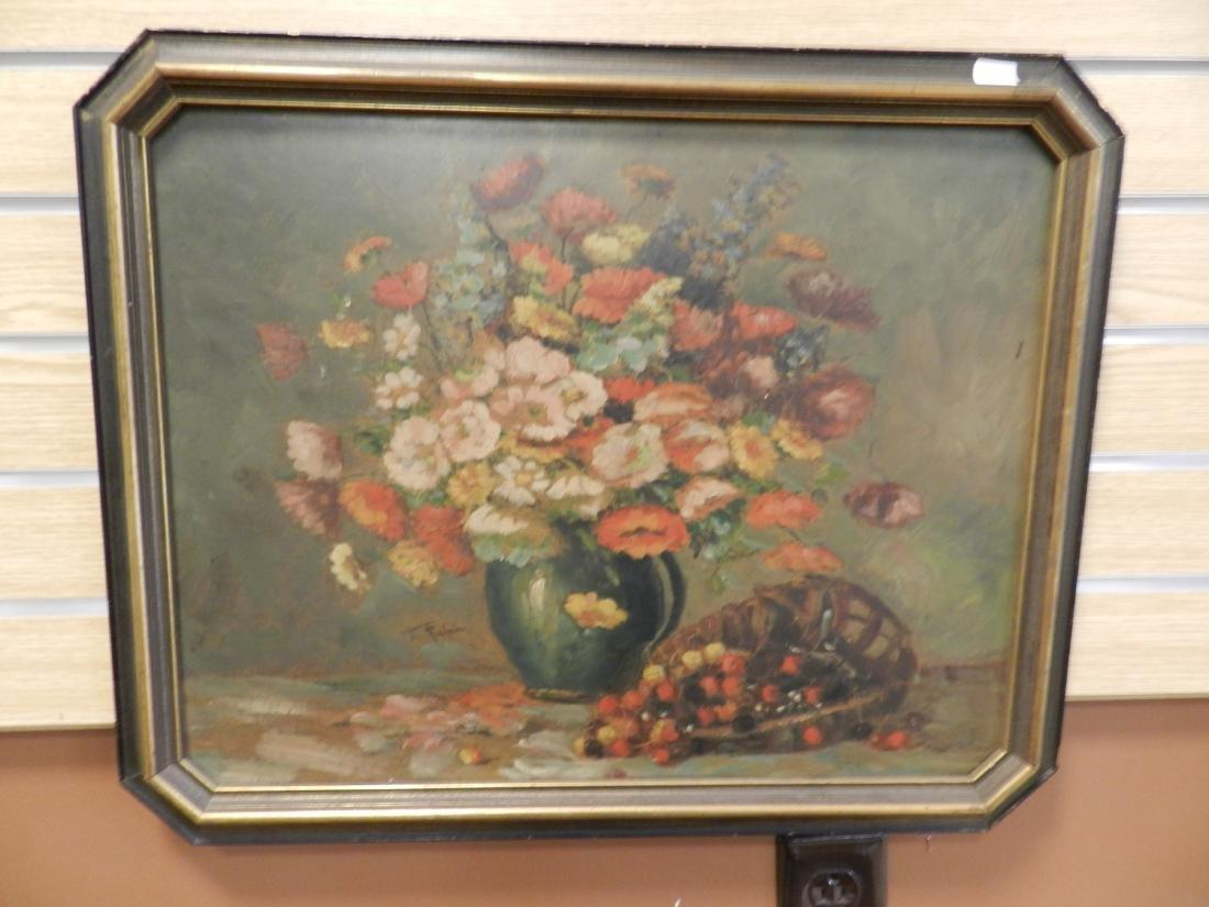 E.Tuheim Floral Still Life oil Painting
