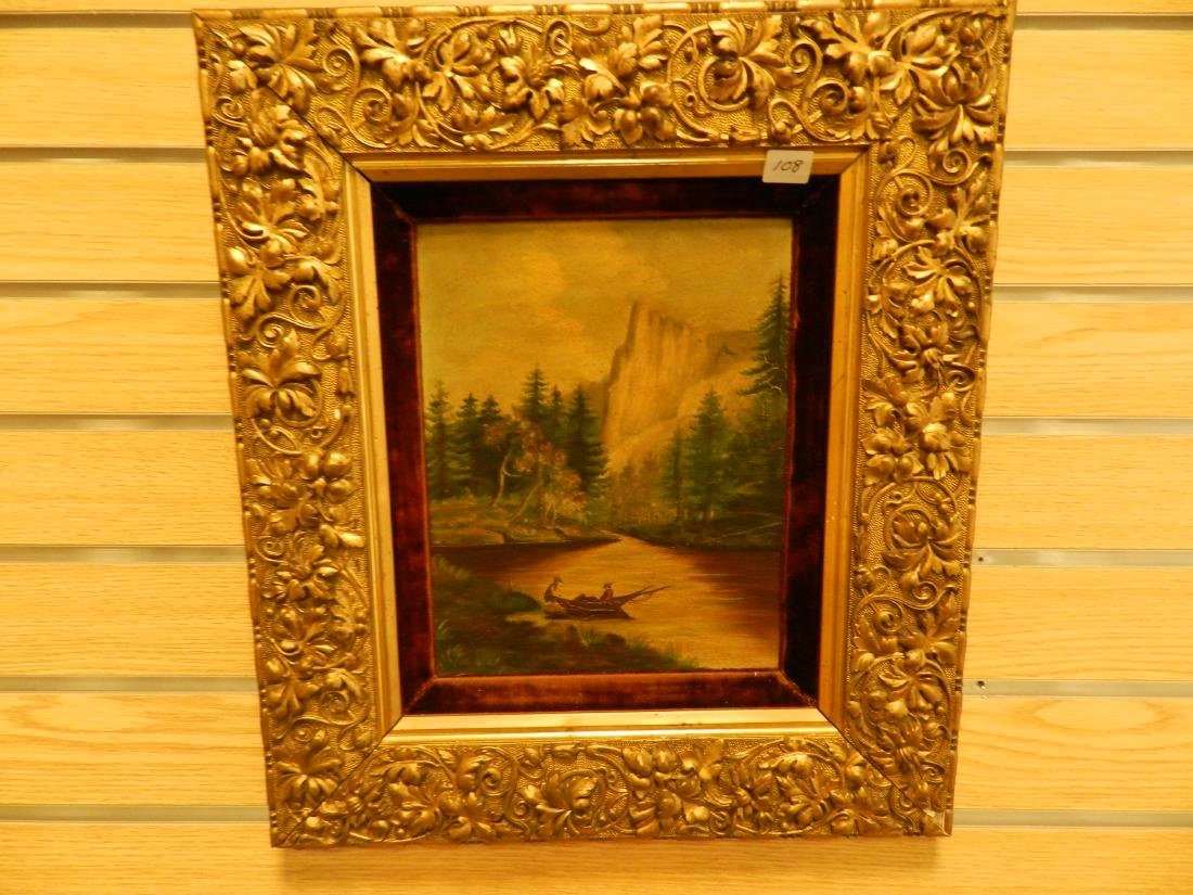 19th C Pair Of Oil on Canvas Paintings