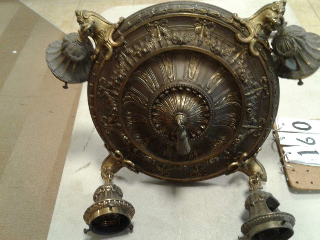 Brass 4 Arm Hanging Chandelier - 2