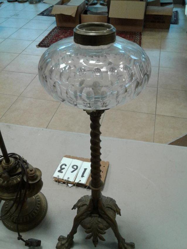 Brass Clawfoot+Genie Lion Head Lamp - 2