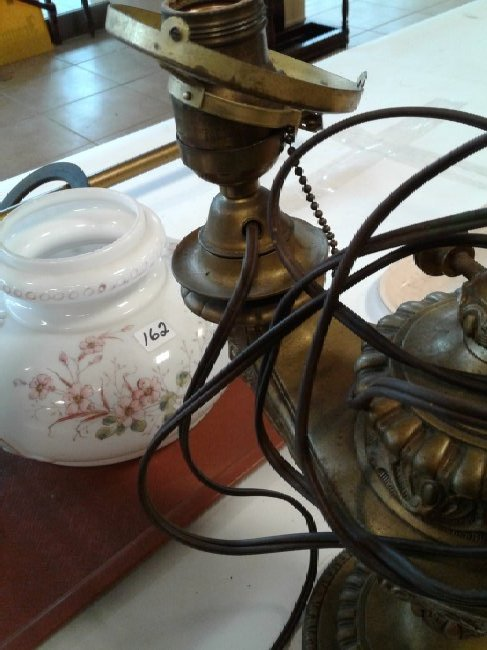 Brass Clawfoot+Genie Lion Head Lamp - 4