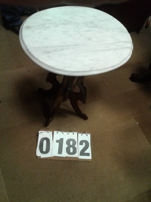 White Vermont Marble top Table