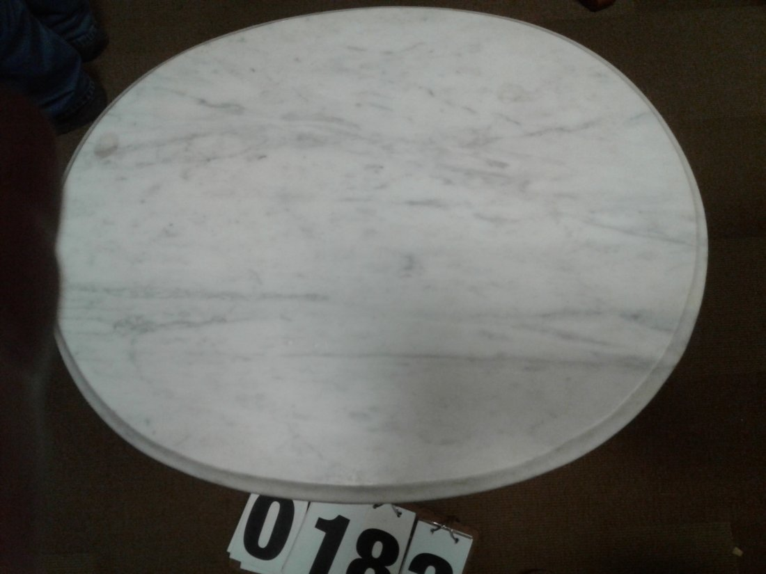White Vermont Marble top Table - 2