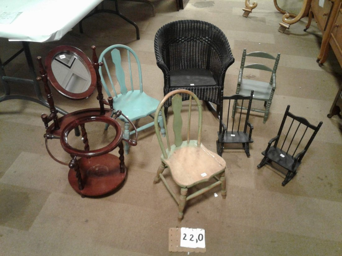 1920's 7-Pieces of Antique Children's Furniture