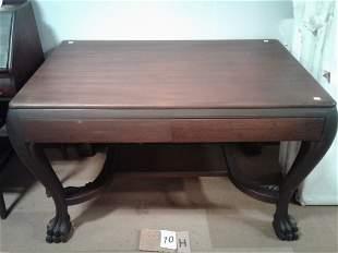 1890s Solid Mahogany Partners Desk
