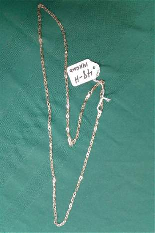 14K Gold Signed Italy and 585 Chain