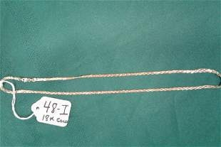 18K Yellow Gold Chain signed 750 Italy
