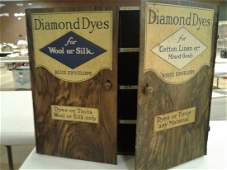 Wells  Richardson Co Tin Diamond Dyes Cabinet