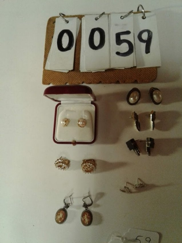 (7) Pairs of 1900's Sterling Antique Estate Earrings