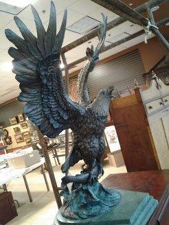 """Est. Monumental """"Victor"""" Bronze Eagle by S. Koop"""