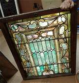 Amer. 1860-90s Victorian Stained Glass Leaded Window