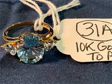 Ladies 10K Gold and Topaz Ring