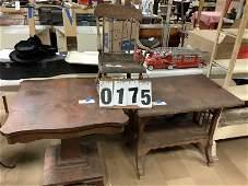 3 Antique Wood Furniture Items