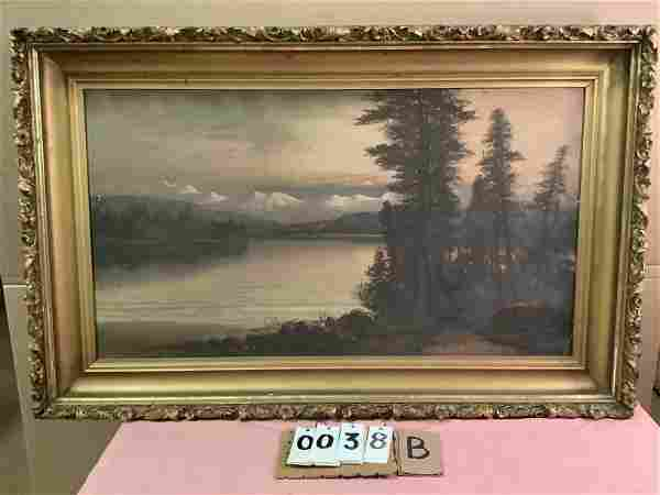 J. Englehart California artist 19 c oil painting